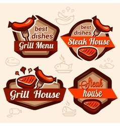 food logos set vector image vector image