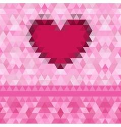 Heart love frame background vector image
