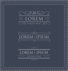 luxury logos template flourishes calligraphy vector image vector image