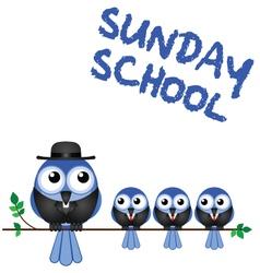 SUNDAY SCHOOL PERCH vector image vector image