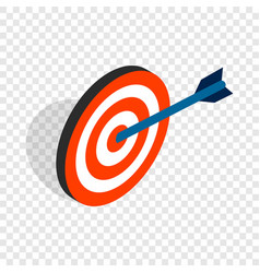 target with arrow isometric icon vector image