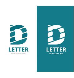 unique letter d logo design template vector image