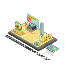 call taxi by gadget isometric design vector image vector image