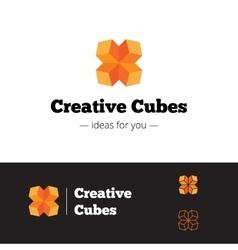 modern orange geometric logo Abstract vector image vector image