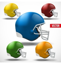 Set of American football helmet side view vector image vector image