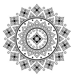 thai mandala design floral round pattern vector image vector image