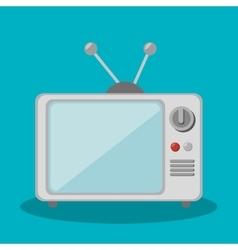 tv retro social media isolated icon design vector image