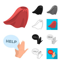 A fantastic superhero cartoonblackflat vector