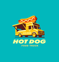 hot dog food truck concept vector image
