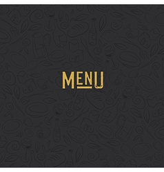 Menu design template Restaurant Seamless Pattern vector image vector image