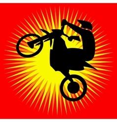 Motorcycle jump Logo vector image