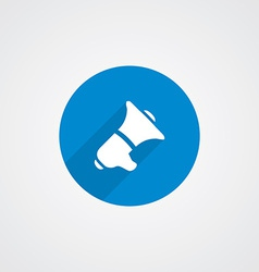 speaker Flat Blue Simple Icon vector image vector image