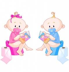babies potty training vector image vector image