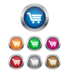 Buy now or add to cart buttons vector image vector image