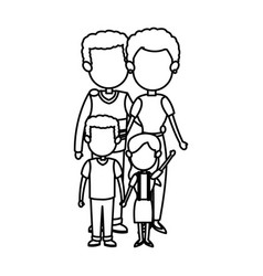 family together mom dad and childrens vector image