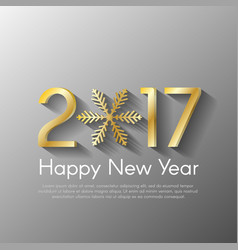 Golden new year 2017 concept on grey background vector