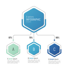 iinfographic template for data visualization 3 vector image vector image