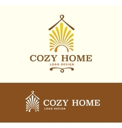 Logo Cozy Home on light and dark color vector image