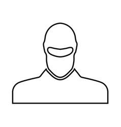 man in balaclava or pasamontanas black icon vector image