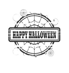 stamp with happy halloween text vector image