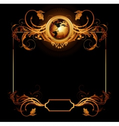 world with ornate vector image