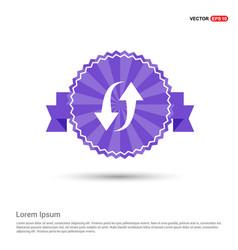 2 side arrow icon - purple ribbon banner vector