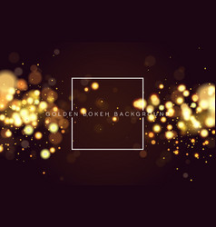 abstract defocused circular golden bokeh sparkle vector image