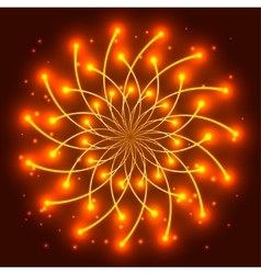 Abstract yellow star with shining light rays vector