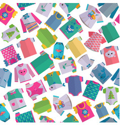 Baclothes seamless pattern vector