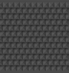 black abstract 3d geometric seamless pattern vector image