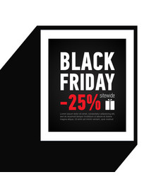 black friday sale banner sale 25 off sitewide vector image