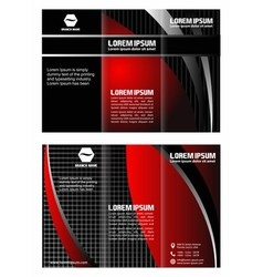 Brochure tri-fold layout design template vector