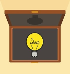 Bulb light idea Brief case vector