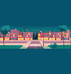 cartoon summer night city landscape vector image