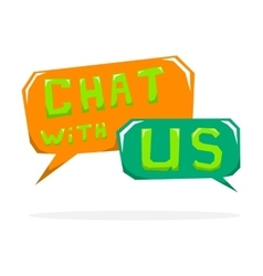 Chat with us vector