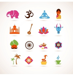 collection india icons vector image