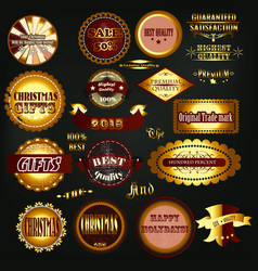 collection vintage labels vector image