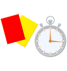 Colorfull cartoon sport timer referee card icon vector