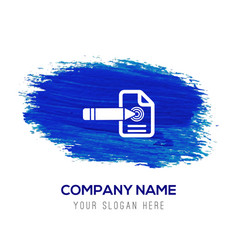 Document icon - blue watercolor background vector