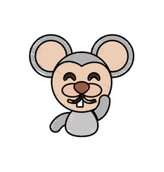 Draw mouse animal comic vector