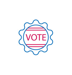 Elections badge outline colored icon can be used vector