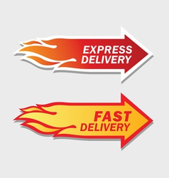 Express and Fast Delivery symbols vector image