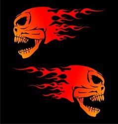 Fire Skulls vector image