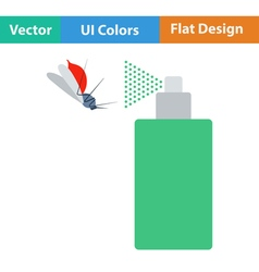 Flat design icon of mosquito spray vector