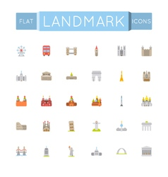 Flat Landmark Icons vector image