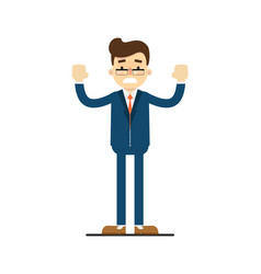 Frustrated businessman with hands to side gesture vector