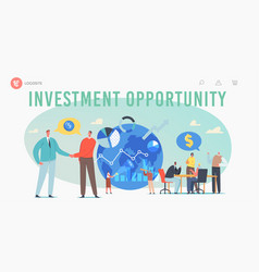 Global investment opportunity landing page vector