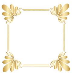 Golden square vintage style border frame vector