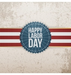 Happy Labor Day greeting Tag vector