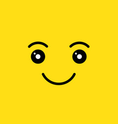 Happy smiling face vector